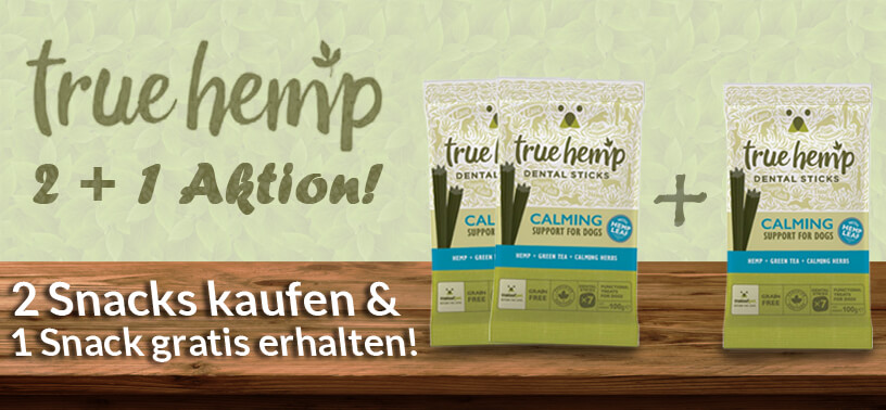 True Hemp 2+1 Aktion