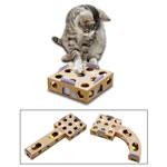 Karlie Smart Cat | Activity Box mit Rasselball 6,5 x 22,5 x 22,5cm
