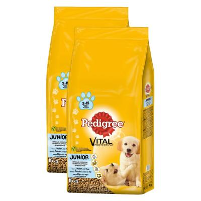 Sparpack! Pedigree Junior | Medium mit Huhn & Reis 2 x 15kg