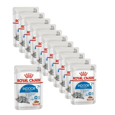 Sparpack! ROYAL CANIN INDOOR 7+ Sterilised in Soße 12 x 85 g