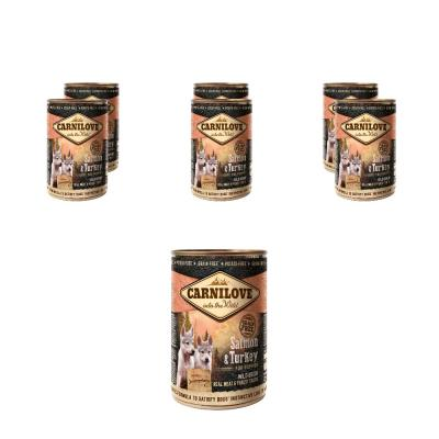 Sparpack! Carnilove Dog - Puppy - Salmon & Turkey  | 6 x 400g