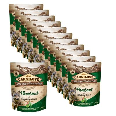 Sparpack! Carnilove Dog Pouch Paté Fasan & Himbeerblätter 12 x 300g