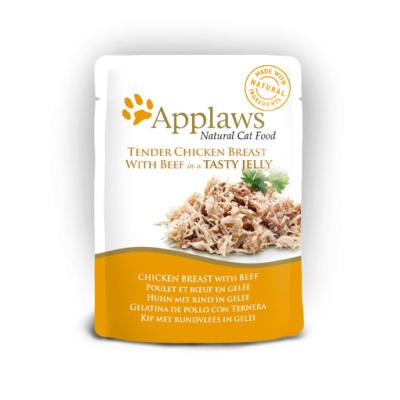 Applaws Pouch Huhn mit Rind in Gelee | 70g