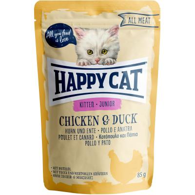 Happy Cat All Meat Junior Huhn & Ente Pouch | 85 g