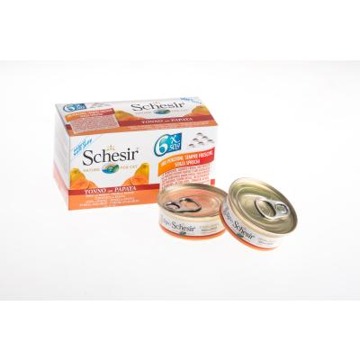 Multipack! Schesir Natural Thunfisch mit Papaya | 6 x 50g