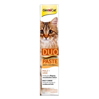 GimCat Anti-Hairball | Duo-Paste Käse + Malz 50g