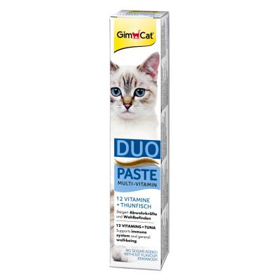GimCat Multi-Vitamin | Duo-Paste Thunfisch + 12 Vitamine 50g