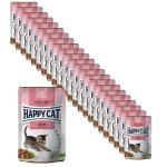 Sparpack! Happy Cat Young Meat in Sauce Kitten & Junior Land Ente Pouch  24 x 85 g