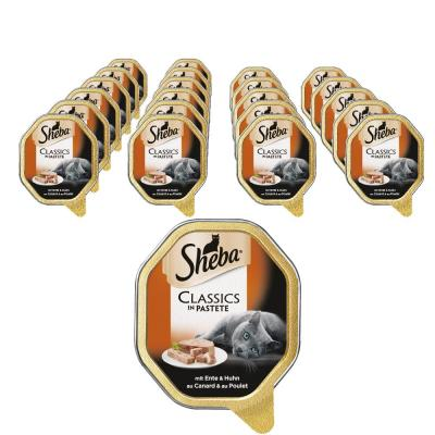 Sparpack! Sheba Classics in Pastete | Ente & Huhn 22x85g