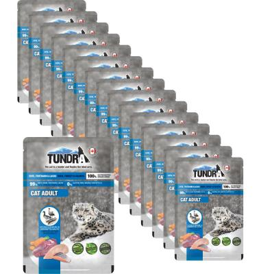 Sparpack! Tundra Cat Pouchpack Ente, Truthahn & Lachs | 16 x 85g