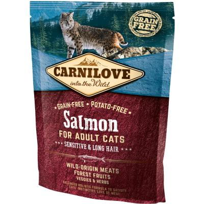 Carnilove Cat Adult Salmon Sensitive & Long Hair | 400g