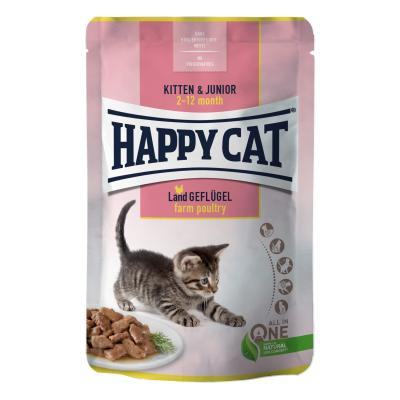 Happy Cat Young Meat in Sauce Kitten & Junior Land Geflügel Pouch | 85 g