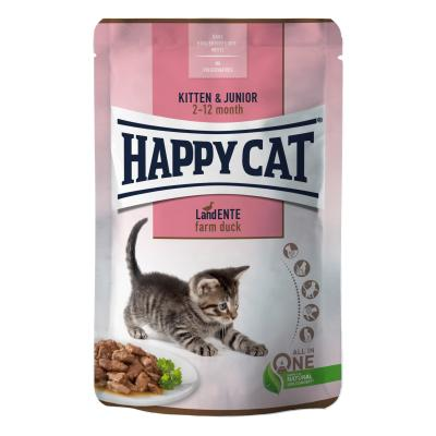 Happy Cat Young Meat in Sauce Kitten & Junior Land Ente Pouch | 85 g