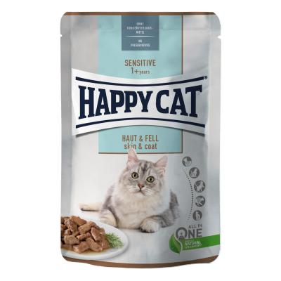 Happy Cat Sensitive Meat in Sauce Haut & Fell Pouch | 85 g