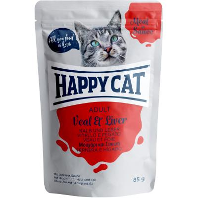 Happy Cat Meat in Sauce Kalb & Leber Pouch | Auslaufartikel! 85g
