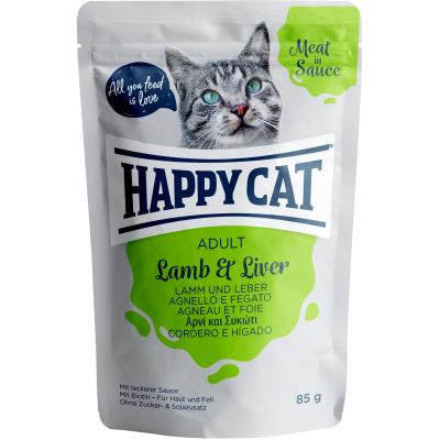 Happy Cat Meat in Sauce Lamm & Leber Pouch | Auslaufartikel! 85g
