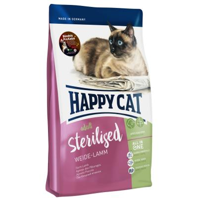 Happy Cat Supreme Sterilised Weide-Lamm | 4 kg