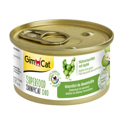 GimCat ShinyCat Superfood Duo Hühnchenfilet mit Apfel | 70g