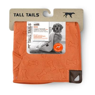 Tall Tails | Umhang-Handtuch Orange Bone 68 x 68 cm