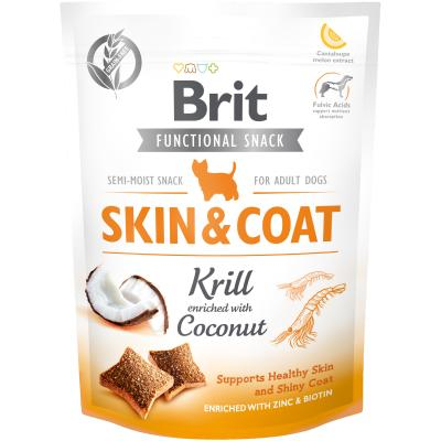 Brit Care Dog Functional Snack Skin&Coat Krill - Krill + Kokos 150 g