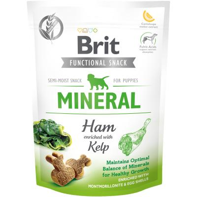 Brit Care Dog Functional Snack Mineral Ham Puppies - Schwein+Kelp 150 g