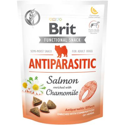 Brit Care Dog Functional Snack Antiparasitic Salmon-Lachs+Kamille 150 g