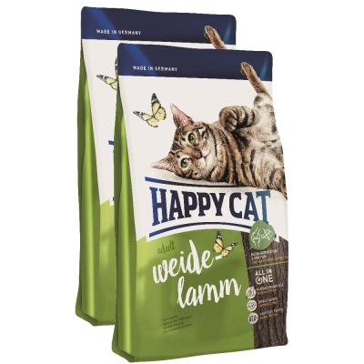 Sparpack! Happy Cat Supreme Adult Weide-Lamm | 2x10kg