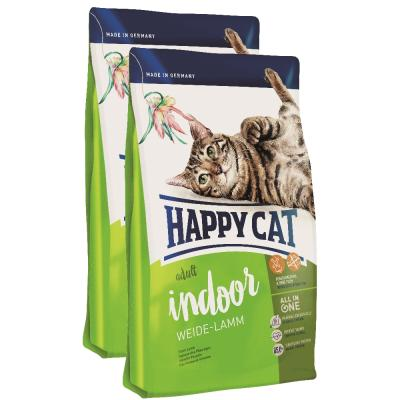 Sparpack! Happy Cat Indoor Adult Weide-Lamm | 2 x 10kg