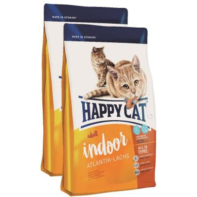 Sparpack! Happy Cat Indoor Adult Atlantik Lachs | 2 x 10kg