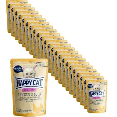 Sparpack! Happy Cat All Meat Junior Huhn & Ente Pouch | 24 x 85 g