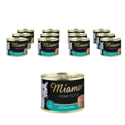 Sparpack! Miamor Feine Filets in Jelly Thun & Reis | 12 x 185g