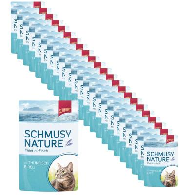 Sparpack! Schmusy Nature Meeres-Fisch Thunfisch & Reis in Jelly | 24 x 100g
