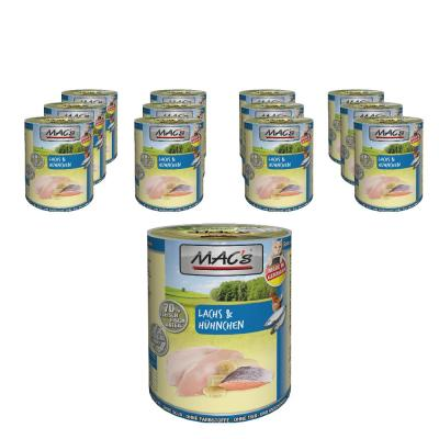 Sparpack! MAC´s Cat Lachs & Hühnchen 12 x 400g
