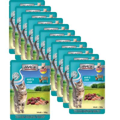 Sparpack! MAC's Cat Pouch Pack Huhn & Lamm | 12 x 100g