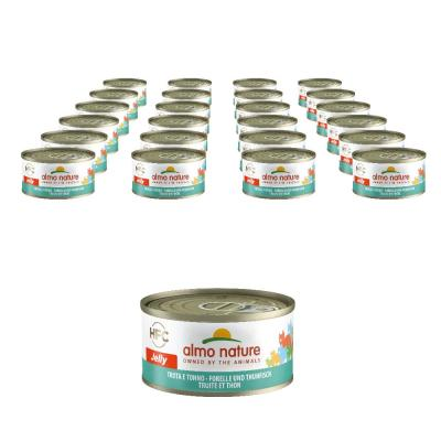 Sparpack! Almo Nature HFC Jelly Forelle & Thunfisch | 24 x 70g