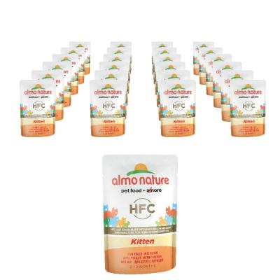 Sparpack! Almo Nature HFC Kitten mit Huhn | 24 x 55g