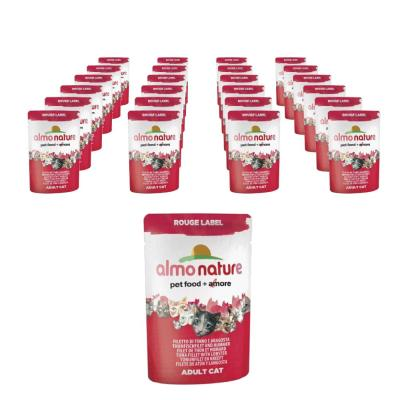 Sparpack! Almo Nature Rouge Label Thunfischfilet & Hummer 24 x 55g