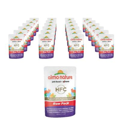 Sparpack! Almo Nature HFC Raw Pack Hühnerbrust und Entenfilet | 24 x 55g