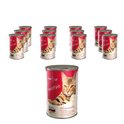 Sparpack! Bewi Cat Meatinis Reich an Geflügel | 12 x 400g
