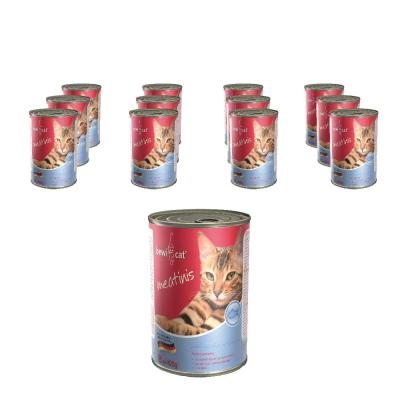 Sparpack! Bewi Cat Meatinis Mit zartem Lachs 12 x 400g