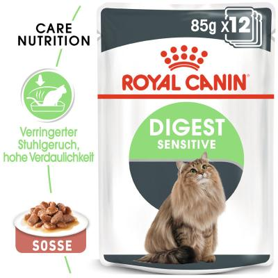 Sparpack! Royal Canin Digest Sensitive in Soße | 12 x 85 g