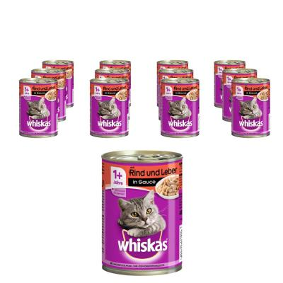 Sparpack! Whiskas | 1+ Rind & Leber in Sauce 12 x 400g
