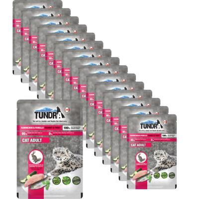 Sparpack! Tundra Cat Pouchpack Kaninchen & Forelle | 16 x 85g
