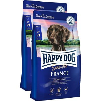 Sparpack! Happy Dog Supreme Sensible France Gourmet-Ente | 2 x 12,5kg