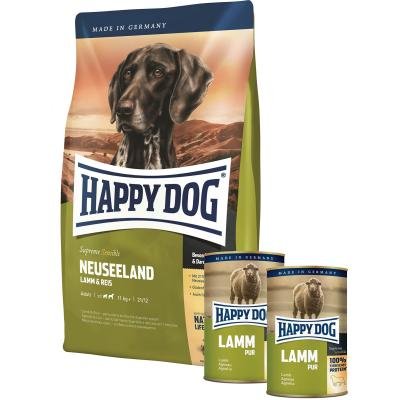 Aktion! | 1x Happy Dog Neuseeland 12,5kg + 2x Happy Dog Lamm pur 400g gratis