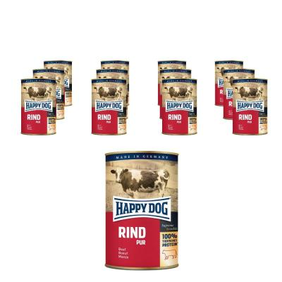 Sparpack! Happy Dog Rind pur | 12 x 400g