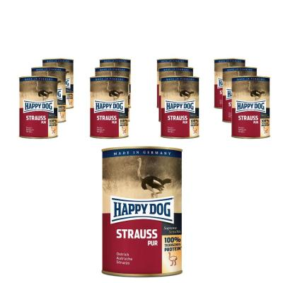 Sparpack! Happy Dog Strauß pur | 12x400g