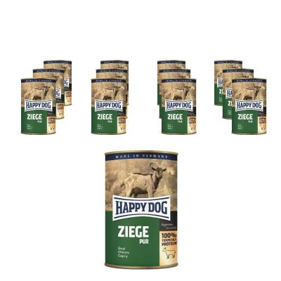 Sparpack! Happy Dog Ziege pur | 12 x 400g