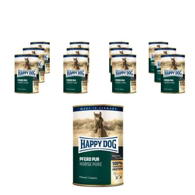 Sparpack! Happy Dog Pferd Pur | 12 x 400g