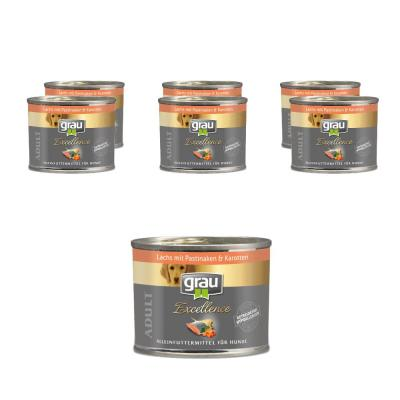 Sparpack! grau Excellence ADULT Lachs mit Pasti...